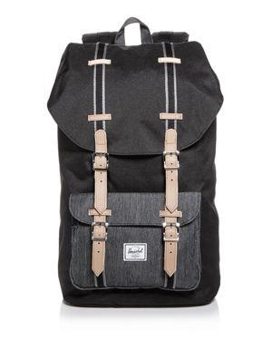 Little America Offset Backpack - Black, Black/ Black Denim