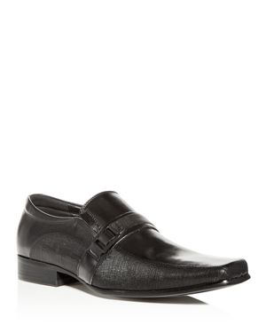 KENNETH COLE MEN'S MAGIC-LY LEATHER SQUARE TOE LOAFERS