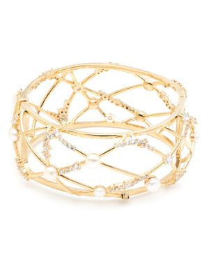CAROLEE CAGED OPEN HINGED CUFF BRACELET
