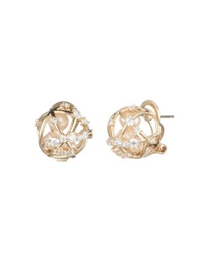 CAROLEE CAGED CULTURED FRESHWATER PEARL STUD EARRINGS