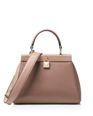 Michael Michael Kors Gramercy Frame Small Leather Satchel