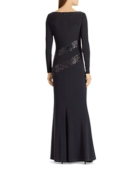Ralph Lauren - Sequin-Trim Jersey Gown