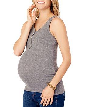 Ingrid & Isabel - Maternity Ribbed Nursing Henley Tank