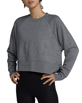 303c9bd30b1c Nike - Versa Embossed Cropped Training Sweatshirt ...