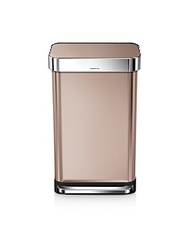 simplehuman - 45-Liter Rectangular Step Trash Can with Liner Pocket