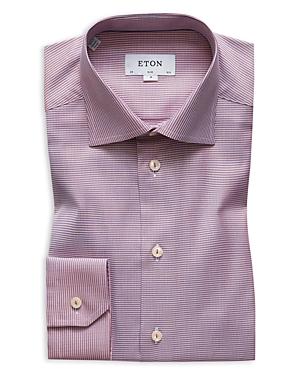 Eton Textured Solid Slim Fit Dress Shirt