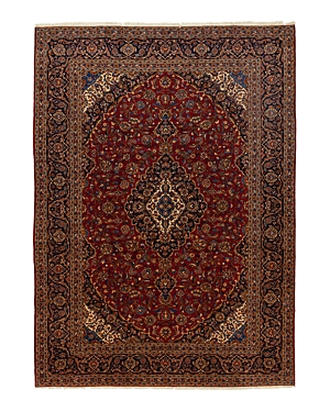 Solo Rugs Kashan Miranda Hand-Knotted Area Rug, 9'9 x 13'9
