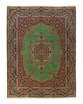 """Solo Rugs - Kerman Melinda Hand-Knotted Area Rug, 10'0"""" x 13'0"""""""