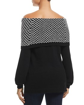 Heather B - Foldover Off-the-Shoulder Sweater
