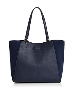 Tory Burch - McGraw Medium Suede & Leather Tote