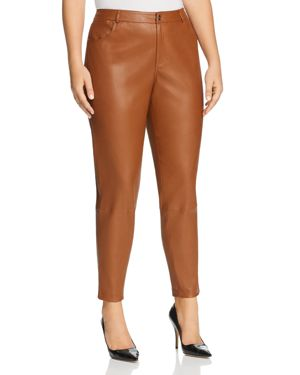 Lafayette 148 New York Plus Mercer Leather Pants