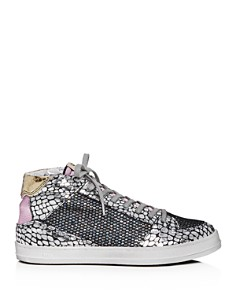 P448 - Women's Queens Glitter Mid-Top Sneakers
