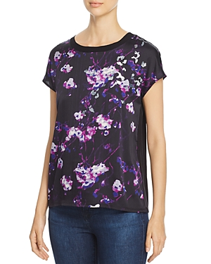 Donna Karan New York Sequined Abstract Print Top