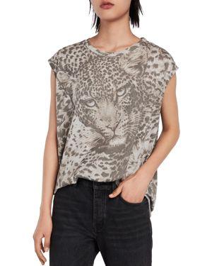 Allsaints Brooke Pardos Leopard Print Tee