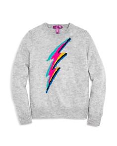 AQUA Girls' Lightning Bolt Cashmere Sweater, Big Kid - 100% Exclusive - Bloomingdale's_0