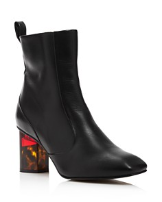Kurt Geiger - Women's Stride 70 Leather Ankle Booties