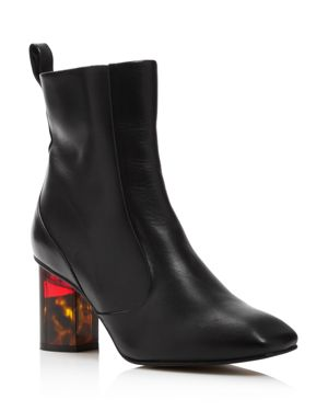 Women'S Stride 70 Leather Ankle Booties in Black