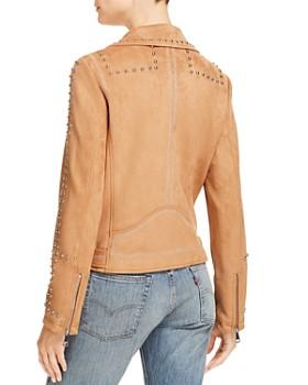 AQUA - Studded Faux Suede Moto Jacket - 100% Exclusive