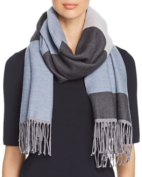 Emporio Armani - Striped Wool Scarf
