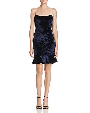 Likely Flounced Velvet Dress