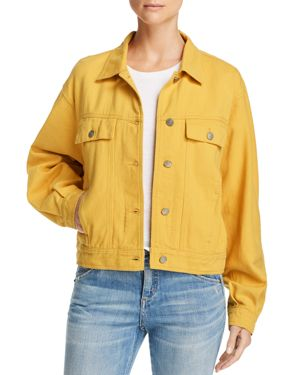 HONEY PUNCH Boxy Denim Jacket in Honey