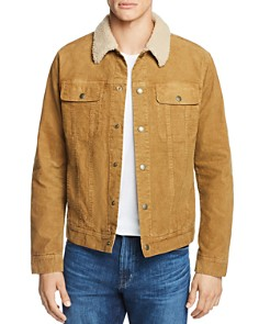 AG - Faux Shearling-Trimmed Corduroy Jacket
