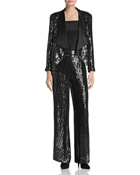 Alice and Olivia - Racquel Sequined Wide-Leg Pants - 100% Exclusive