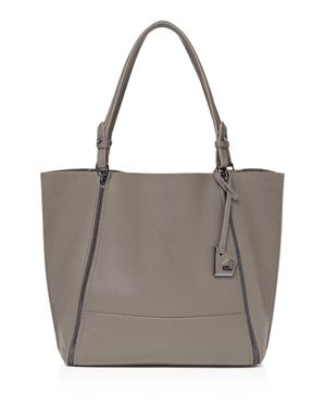 Soho Large Leather Tote in Winter Gray/Gunmetal