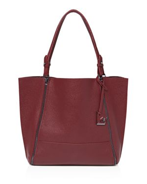 Soho Large Leather Tote in Bordeaux Red/Gunmetal