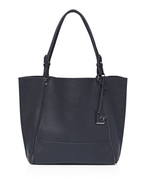 Soho Large Leather Tote in Winter Navy/Gunmetal