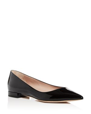 ARMANI COLLEZIONI WOMEN'S PATENT LEATHER POINTED TOE BALLET FLATS