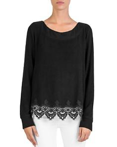 The Kooples - Fleece Lace-Trim Sweatshirt