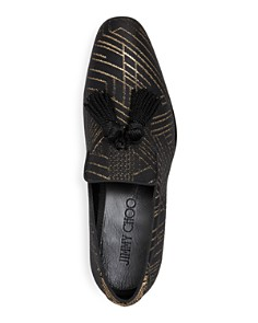 Jimmy Choo - Men's Foxley Jacquard Smoking Slippers