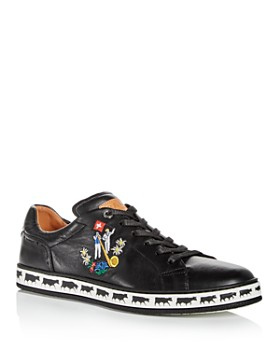 Bally - Men's Anistern Embroidered Leather Lace Up Sneakers