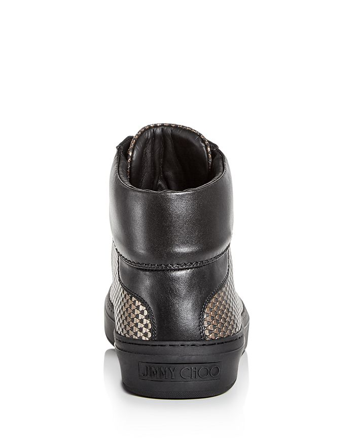 3791de2baa36 Jimmy Choo Men s Argyle Embossed Leather High Top Sneakers ...