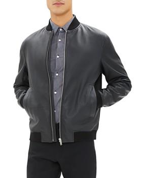 Theory - Brenton Leather Bomber Jacket