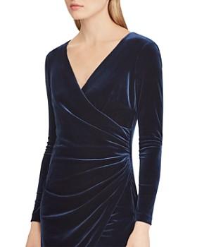 Ralph Lauren - Velvet Faux-Wrap Dress - 100% Exclusive