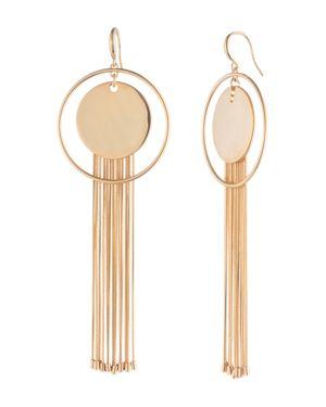 Trina Turk Disc & Fringe Hoop Earrings