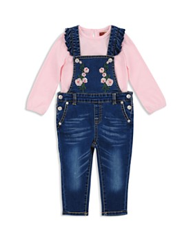 7 For All Mankind - Girls' Top & Embroidered Overalls Set - Baby