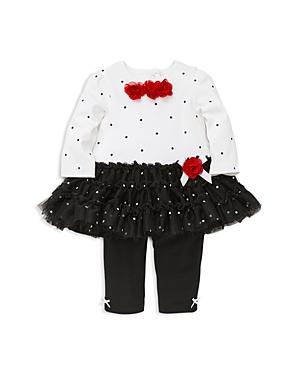 Little Me Girls Dotted Rose Tutu Top  Leggings Set  Baby
