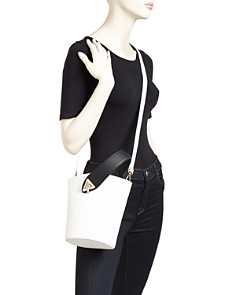Street Level - Medium Color-Block Wristlet Bucket Bag