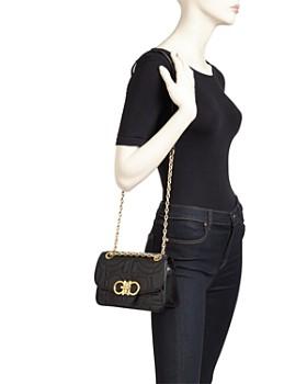 Salvatore Ferragamo - Gancini Quilted Leather Shoulder Bag