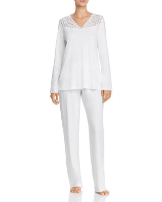 HANRO Womens Moments Long Sleeve Pajama Set