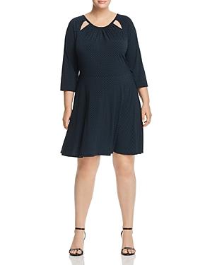 Michael Michael Kors Plus Cutout Polka Dot Dress