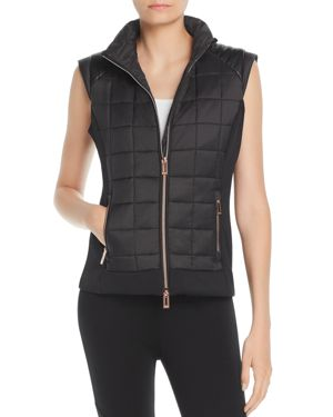 MARC NEW YORK Performance Mixed Media Puffer Vest in Black