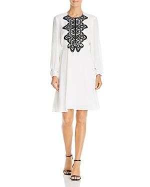 nanette Nanette Lepore Lace-Trimmed Chiffon Dress