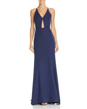 JARLO Margaux Keyhole Gown in Navy