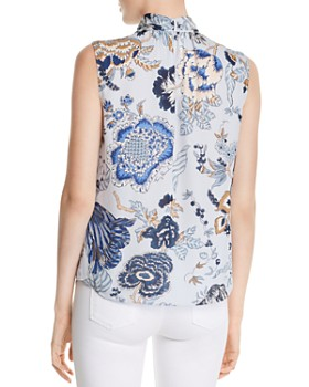 Tory Burch - Happy Times Tie-Neck Silk Top