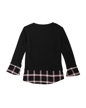 Generation Love - Girls' Cassie Layered Plaid Sweater Top - Little Kid