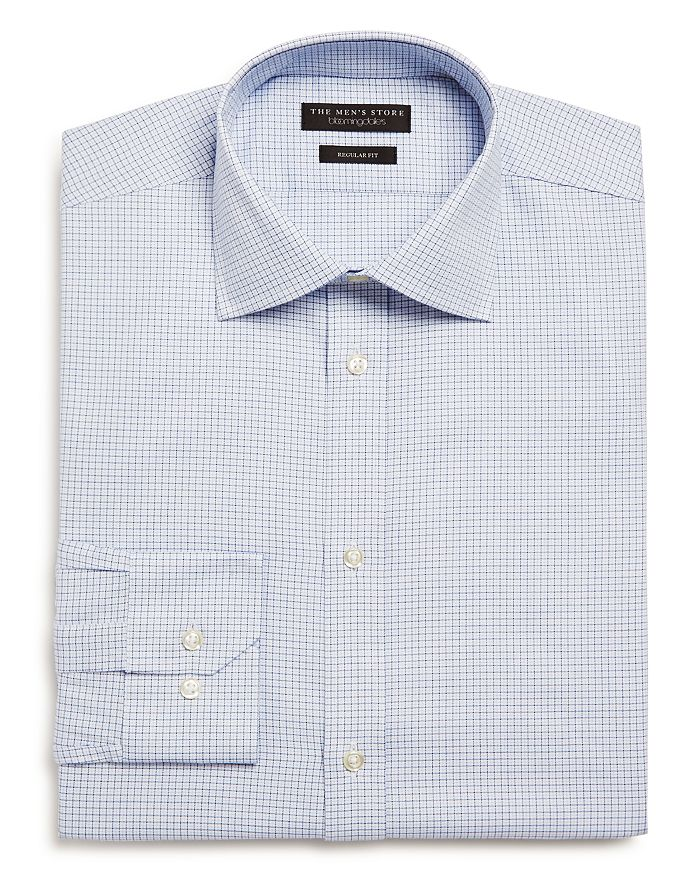 The Men's Store at Bloomingdale's - Tattersall Check Regular Fit Dress Shirt - 100% Exclusive